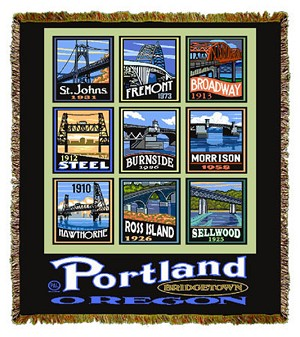 Bridges of Portland Artist Tapestry