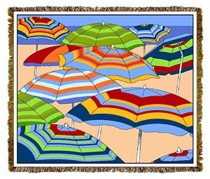 Beach Umbrellas Tapestry