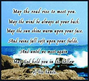 May The Road Rise Tapestry