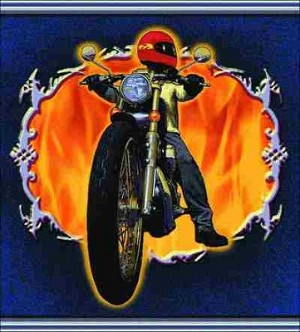 Motorcycle Biker Tapestry