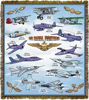 Us Navy Fighters Tapestry