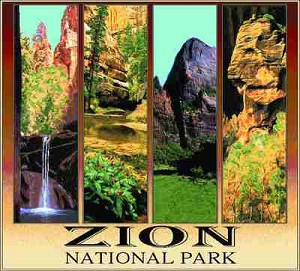 Zion Natl Park Tapestry
