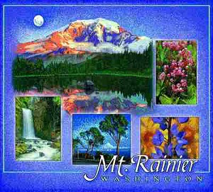 Mount Rainier Washington Tapestry