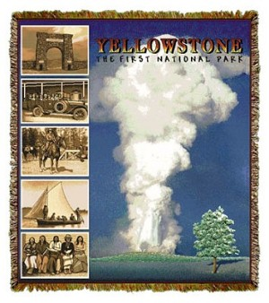 Yellowstone National Park Tapestry Coverlet