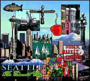 Seattle Washington Tapestry