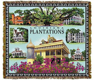 Louisiana Plantations Tapestry