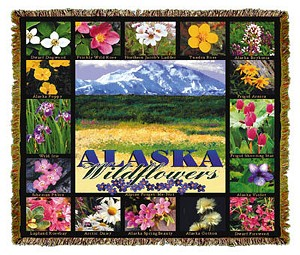Alaska Wildflowers Tapestry