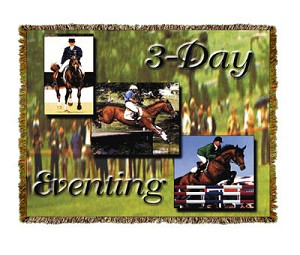 Horse 3 Day Eventing Tapestry