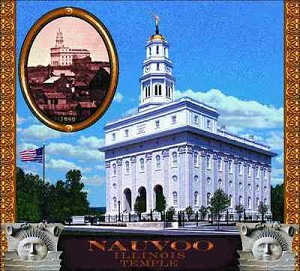 Morman Temple Nauvoo Tapestry