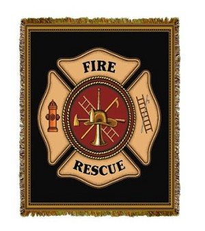 Firefighter Shield Tapestry