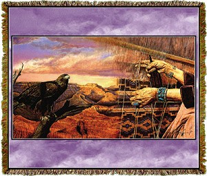 Native American Canyon Weaver Tapestry