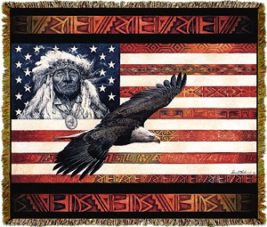 Native American Spirit Of America Tapestry