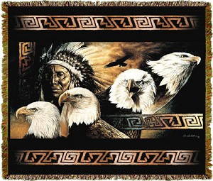 Native American Lakota Twilight Tapestry