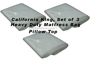 California King Size Set of 3 Heavy Duty Mattress Bags