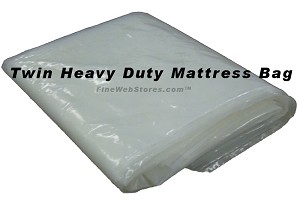 Twin Size Plastic Heavy Duty Mattress Bag