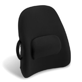 Lower Back Backrest Support With Lumbar Support In Black