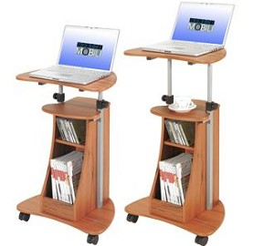 Adjustable Height Wood Grain Laptop Desk