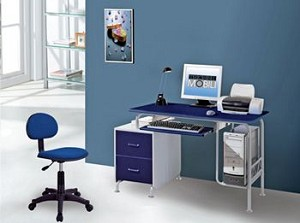 Small Kids Blue Computer Desk