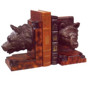 Bear Cub Head Bookends