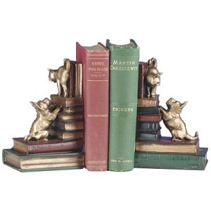 Scotty Dog And Cat Bookends