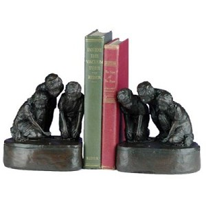 Kids Playing With Marbles Bookends