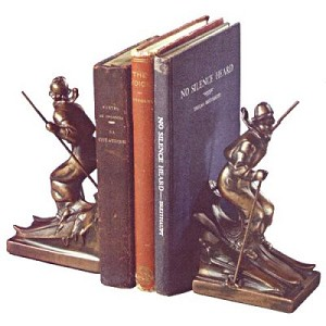 Lady Skiing Bookends