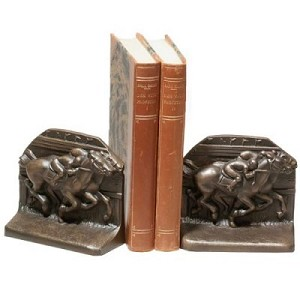 Horse Race To Finish Line Bookends