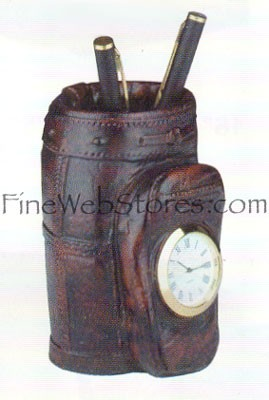 4 In Golf Bag Clock Antique Style