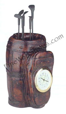 8 In Golf Bag Clock Antique Style