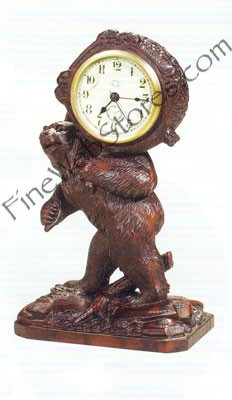 Smiling Bear Clock Antique Style