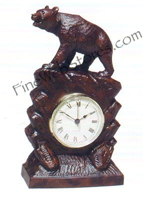 Tall Bear Clock Antique Style