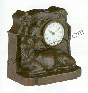 Deer Clock Antique Style
