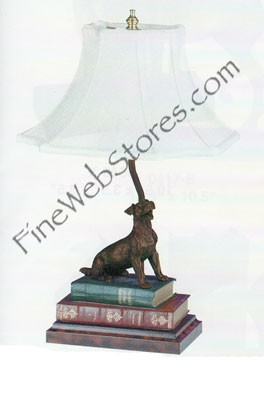 Jack Russel On Books Lamp