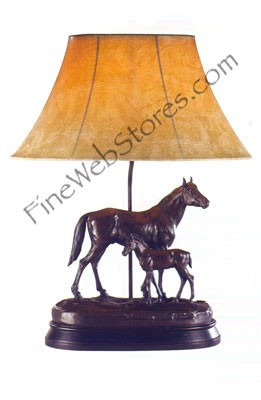 Just Like Dad Horse Lamp