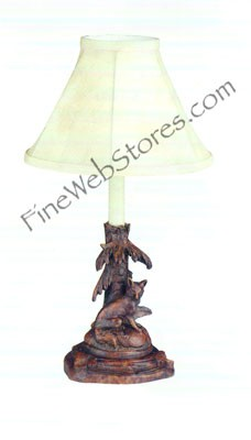 Fox Candlestick Lamp