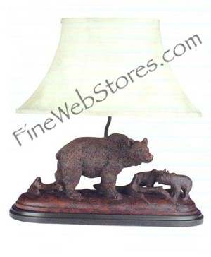 Bear And Cubs Lamp