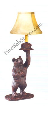 Left Facing Honey Pot Bear Lamp