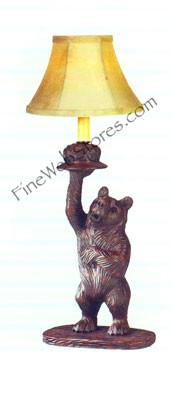 Right Facing Honey Pot Bear Lamp
