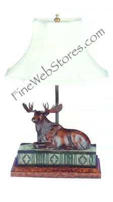 Moose On Book Lamp