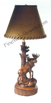 Moose And Squirrel Lamp