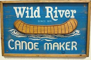 Wild River Canoes Old West Sign
