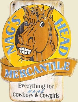 Nags Head Mercantile Old West Sign