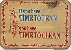 Time To Clean Old West Sign