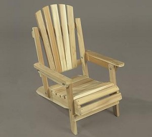 Unstained Natural Cedar Adirondack Junior Chair