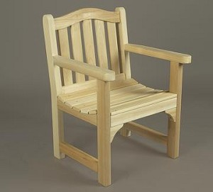 Unstained Natural Cedar Camel Back Chair