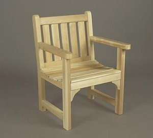 Unstained Natural Cedar English Garden Chair