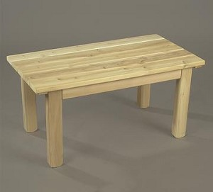 Unstained Natural Cedar English Garden Table