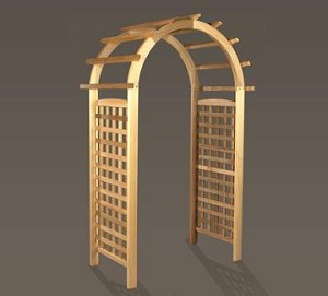 Unstained Natural Cedar English Rose Arbor