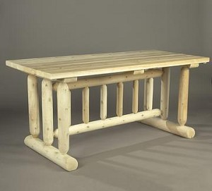 Unstained Natural Cedar Harvest Family Dining Table