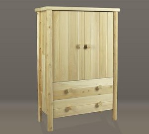 Unstained Natural Cedar Armoire